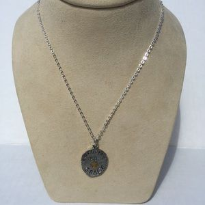 """Jewelry - """"Anchored by Grace"""" charm necklace."""